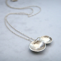 Silver Love and Truth Dome Necklace