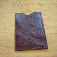 Plum leather iPod cover