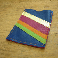 Blue stripey leather iPod cover