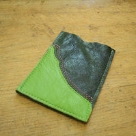 Two-tone green leather iPod cover