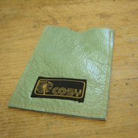 Green and gold leather iPod case