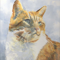 Commission A Portrait Painting - Cats
