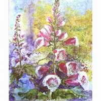 Foxgloves - Original Painting in Acrylic 18 x 22 inches