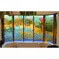Painted Glass Panels, Windows, Installations Made to Order