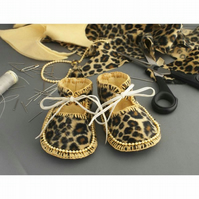 Baby Shoes Funky Leopardskin. Newborn to 3 months