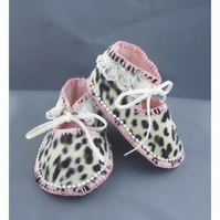Baby Shoes - Wildcat Print Fur Fabric 9 months