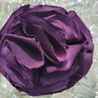 Aubergine Purple Frilly Corsage