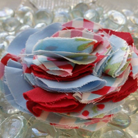 Shabby fabric flower