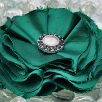 Satin green flower corsage