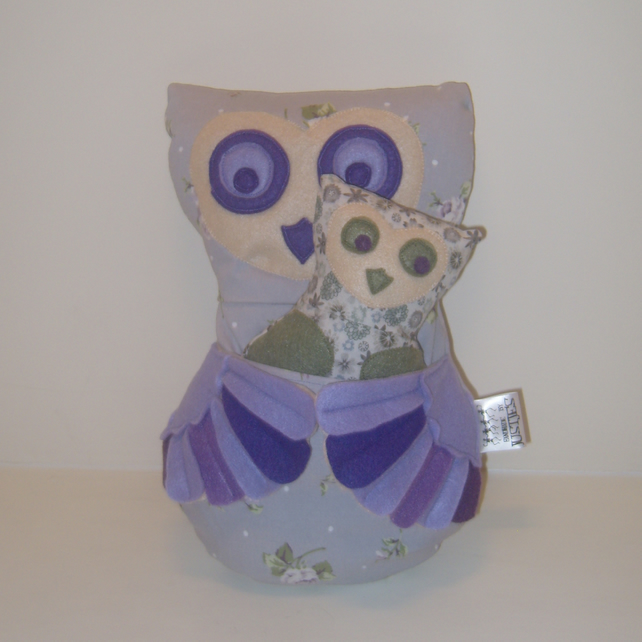 Mummy and Baby Owl Cushion