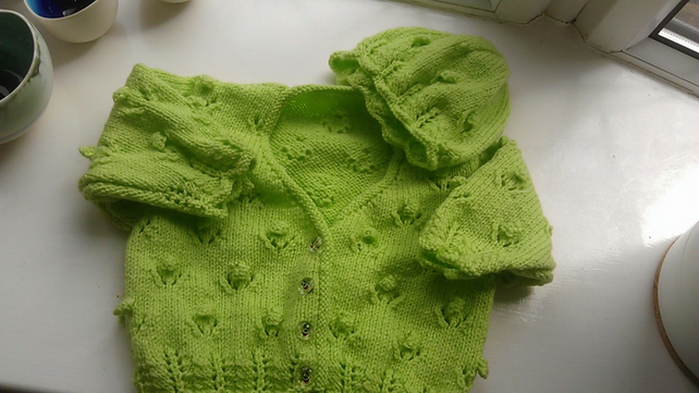 Toddlers Cardigan & Hat
