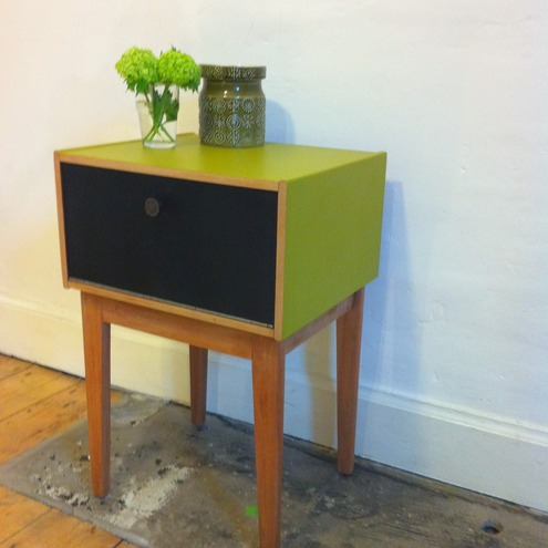 Quirky Bedside Tables cute 1950s vintage cabinet or delightful bedsid - folksy
