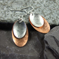Earrings, Artisan Geometric Oval Copper & Sterling Silver