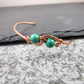 Copper Bangle with Turquoise and Wire Wrapping