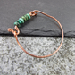 Bracelet, Copper Bangle with Turquoise