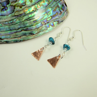 Sparkly Party Earrings, Sterling Silver, Keshi Pearl and Swarovski® Elements