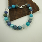 Mixed Gemstone Bracelet in Blue Tones with Sterling Silver