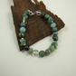 Mixed Gemstone Bracelet in Green Tones with Sterling Silver