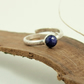Sterling Silver and Blue Lapis Lazuli Ring, Adujstable Fit, Freesize