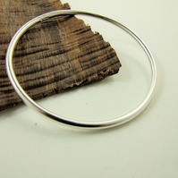 Sterling Silver Heavy Smooth Round Bangle