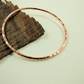 Copper Oval Hammered Textured  Bangle
