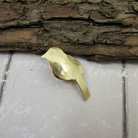 Small Bird Lapel Pin Brooch, Brass Pin