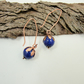 Earrings, Copper with Royal Blue Dyed Jasper