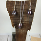 Sterling Silver and Mocha Potatoe Pearl Necklace and Earring Set