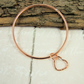 Copper Stacking Bangle with Wire Heart Charm
