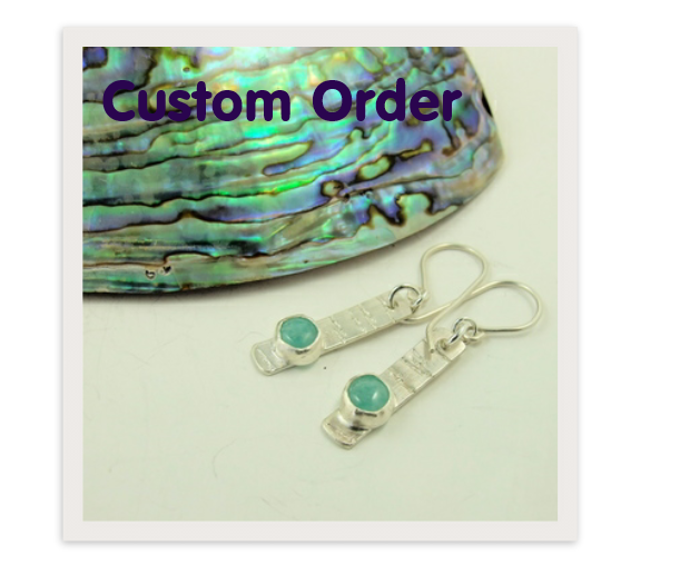 Custom Order - Sterling Silver and Mint Green Amazonite Set
