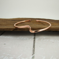 Copper Cuff Bracelet, Twisted Torque Copper Bangle, Unisex
