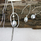 Necklace and Earring Set, Sterling Silver and Silver Colour Pearls