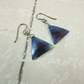 Earrings, Anodised Titanium, Aurora Triangle Droppers, Christmas Earrings