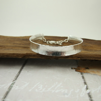 Sterling Silver Heavy Anticlastic  Bangle