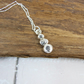 Stacked Pebbles Pendant, Sterling Silver Necklace