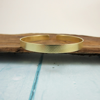 Textured Brass Bangle Medium Fit