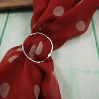 Silver Scarf Ring, Sterling Silver Buckle for Silk Scarf