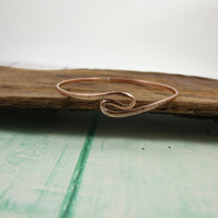 Copper Hammered Twist Bangle, Copper Bracelet