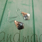 Earrings, Copper Dipped in Silver Elegant Dropper