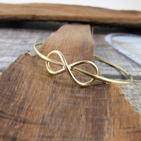 Brass Infinity Bangle, Brass Bracelet