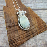 Necklace Sterling Silver and Ocean Jasper