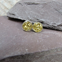Sterling Silver and Brass Sparkle Studs