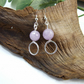 Earrings, Sterling Silver and Lilac Amethyst Gemstone Droppers