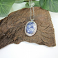 Sodalite Necklace, Sterling Silver with Bezel Set Gemstone