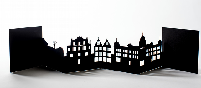 Tunbridge Wells Cityscape, Silhouette, Skyline Card