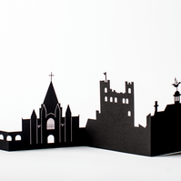 Rochester Cityscape, Silhouette, Skyline Card
