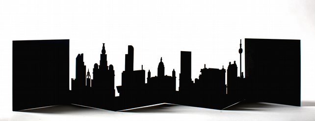 Liverpool Cityscape, Silhouette, Skyline Card