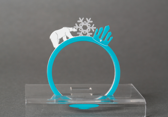 Acrylic Snow Queen Bracelet Set