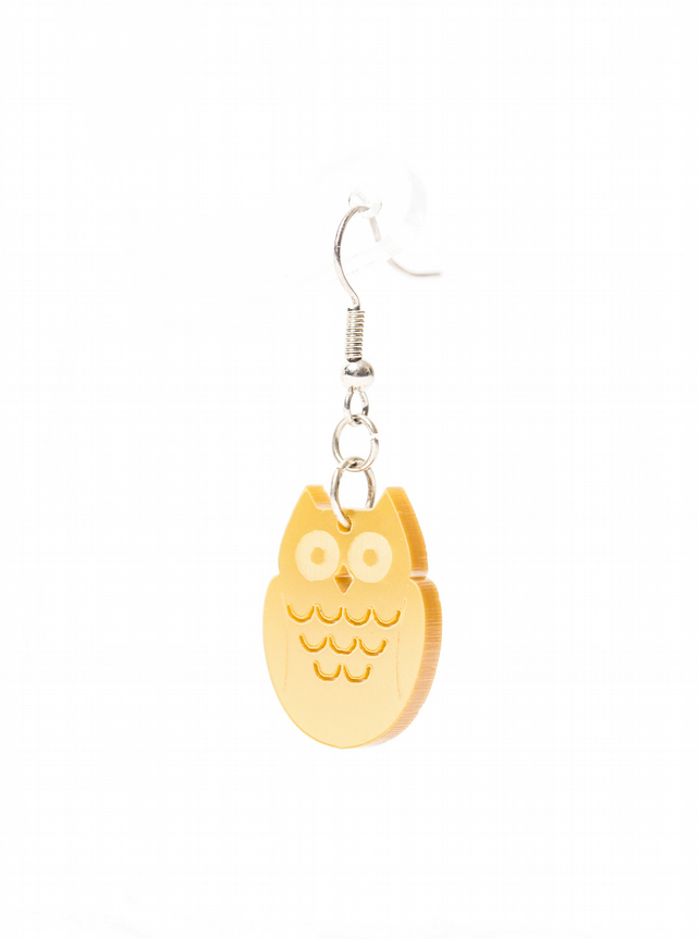 Acrylic Owl Earrings