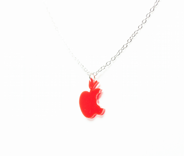 Acrylic Apple Necklace